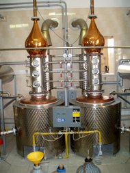 Distillery - double boilers system. Pecl 01