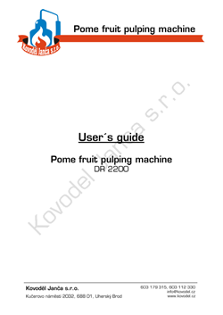 Pome fruit pulping machine