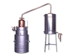 Double-walled tipping boiler - steel outside wall
