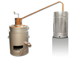 Single-walled boiler with draining valve