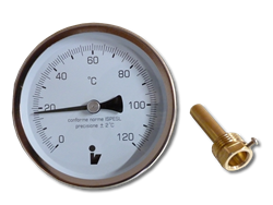 Thermometer bimetallic